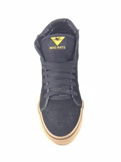 tenis mad rats original hi top preto crepe - galeria do rock