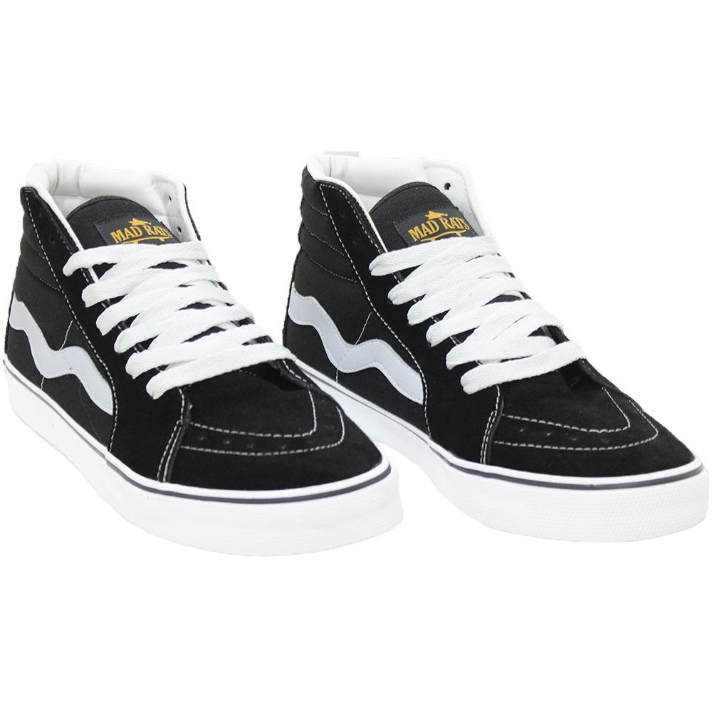 tenis mad rats skate old school hi top original preto branco. Carregando  zoom. 6b0893f4c81