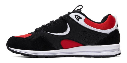 tenis masculino dc shoes kalis lite black/red original
