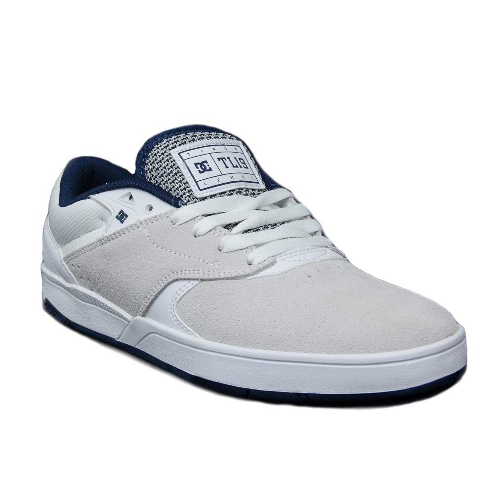 706fd276f tenis masculino dc shoes tiago s camurça skate branco azul. Carregando zoom.