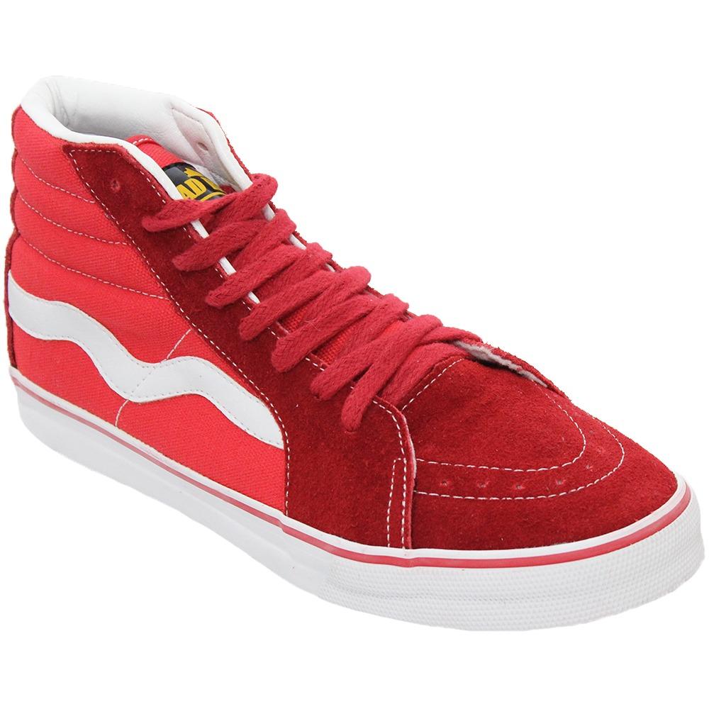 tenis masculino mad rats old school hi top vermelho branco. Carregando zoom. cf1a09516d6