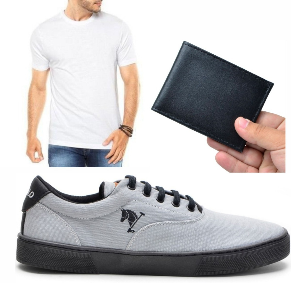 526fa48ec4bc9 tenis masculino sapatenis + camiseta +carteira slim polo joy. Carregando  zoom.