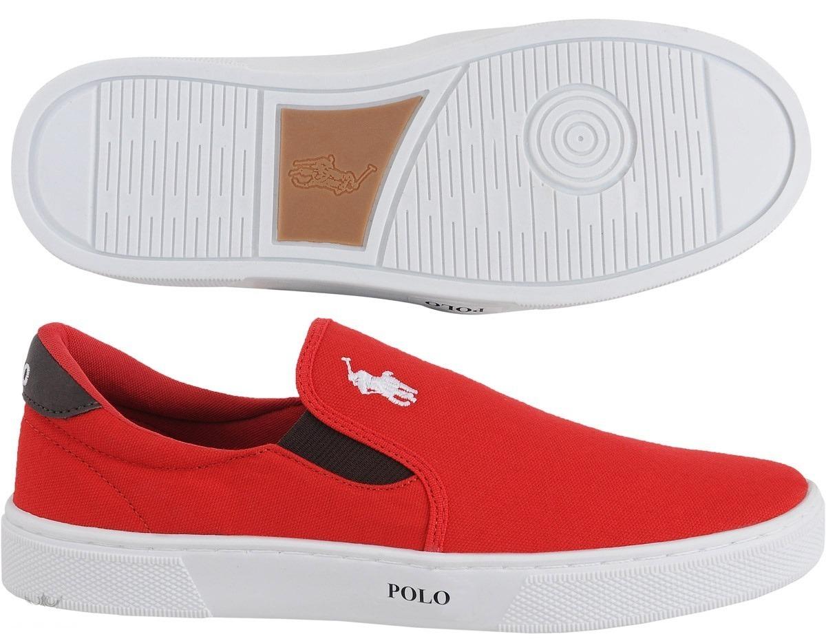 c1a42a26cf04a tenis masculino sapato polo joy iate com elástico vermelho. Carregando zoom.