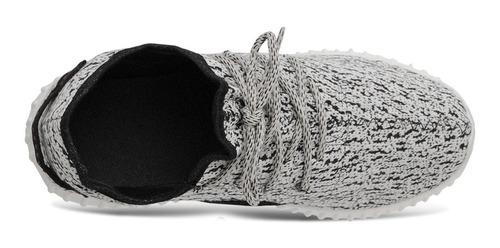 tenis masculino yzy c/ relógio, chinelo, carteira e cinto