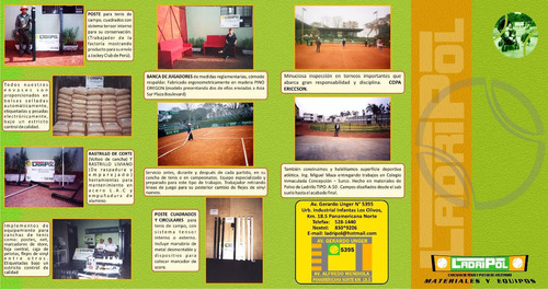 tenis materiales yconstruccion