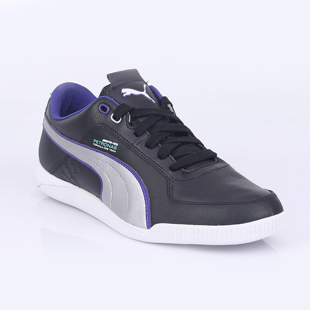 Tenis mercedes benz amg mamgp silver trainers 02 puma for Puma mercedes benz