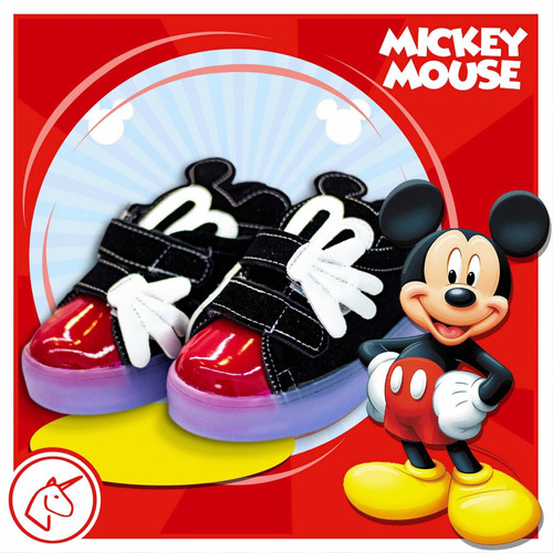 tenis mickey mouse con luces led