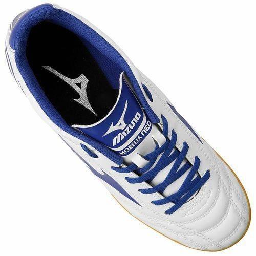 e4da617d9e849 Tenis Mizuno Branca Azul Morelia Neo Club In Futsal Promoção - R ...