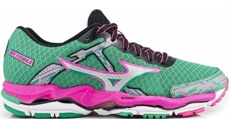 Tenis Mizuno Wave Enigma 4 Running W Verde E Rosa