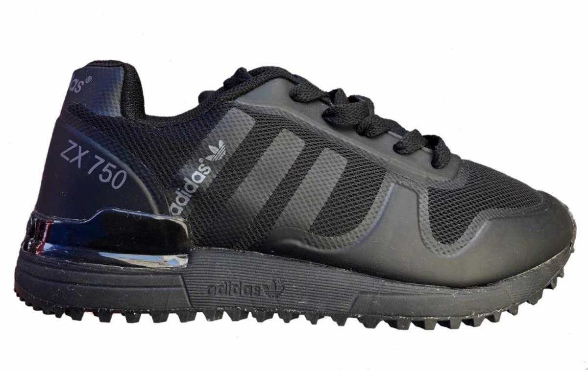 sports shoes e08ba a864e tenis modelo adidas zx750 negro total para niño. Cargando zoom.