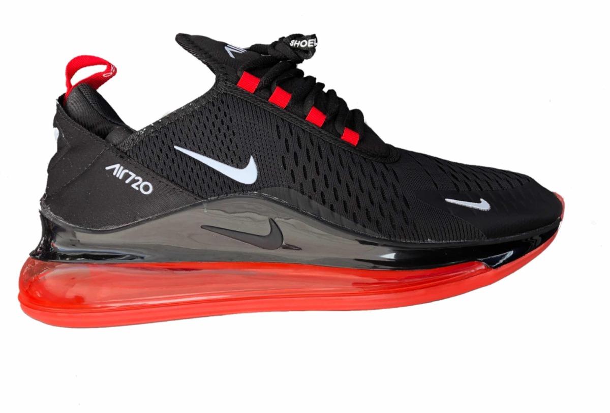 df1c216c9eb Tenis Modelo Nike Air 720 Negro Válvula Roja -   1