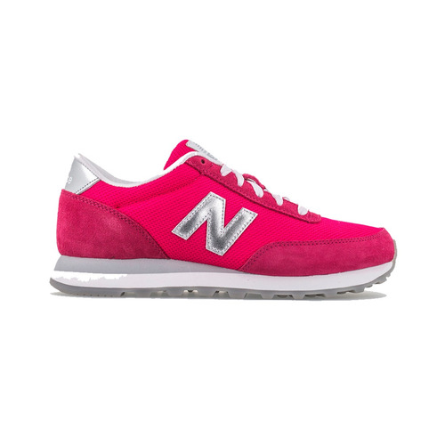 tenis mujer life style new balance casual 501 rosa