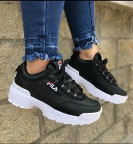 amazon fila casual zapatillas negro