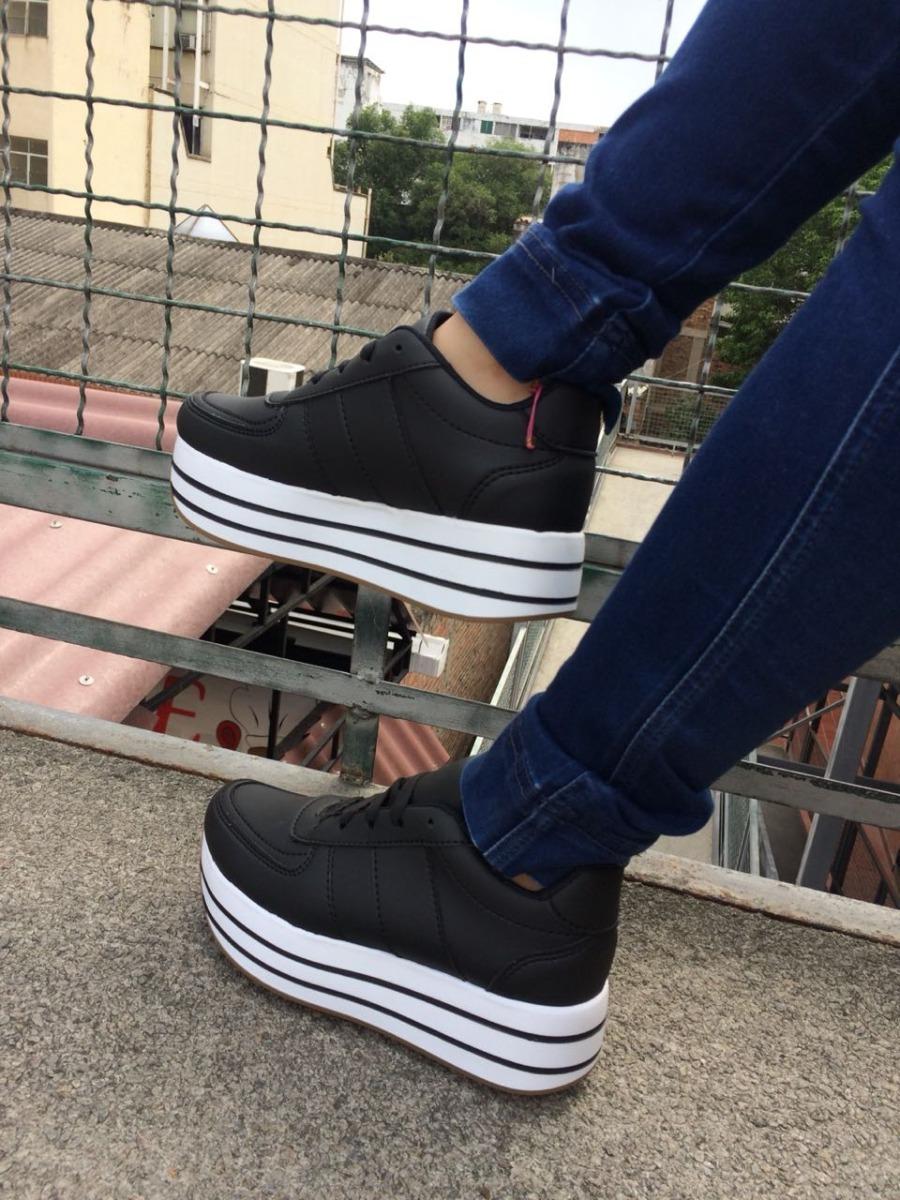 40fbc8ce09919 tenis negros mujer deportivo moda calzado zapatos damas. Cargando zoom.