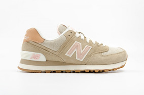 Tenis 574 Mujer 50Descuento New Balance Beige fgyb7IY6v