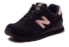 new balance wl574 mujer negro