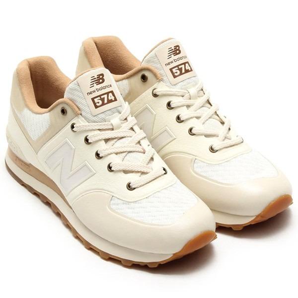 68f80caf133 Tenis New Balance 574 Sonic Nº 42 Branco Bege Casual Nike - R  800 ...