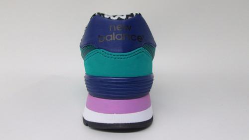 tenis new balance lyfestile sneakers wl574acb galapagos tur