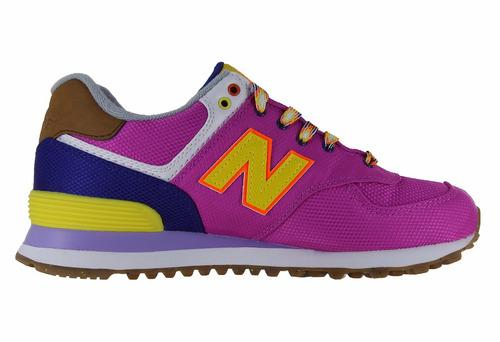 tenis new balance lyfestile sneakers wl574exb fiusha multico