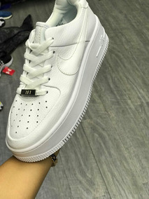 Nike Air Force One Plataforma Sage Low Xx Blancas