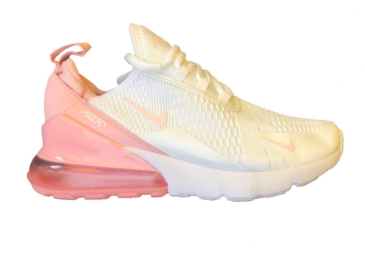 7145a210163fe tenis nike air 270 blanco rosa plastificado. Cargando zoom.