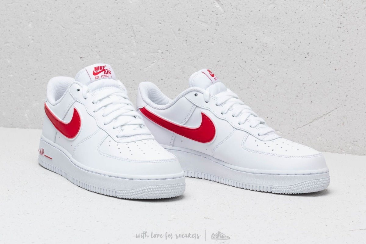 Tenis Nike Air Force 1 ´07 3 Blanco Paloma Roja # 29 Mx