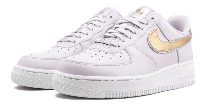 air force 1 mujer blancas y doradas