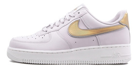 Tenis Nike Air Force 1 '07 Mtlc Af1 Mujer Metallic Dorado