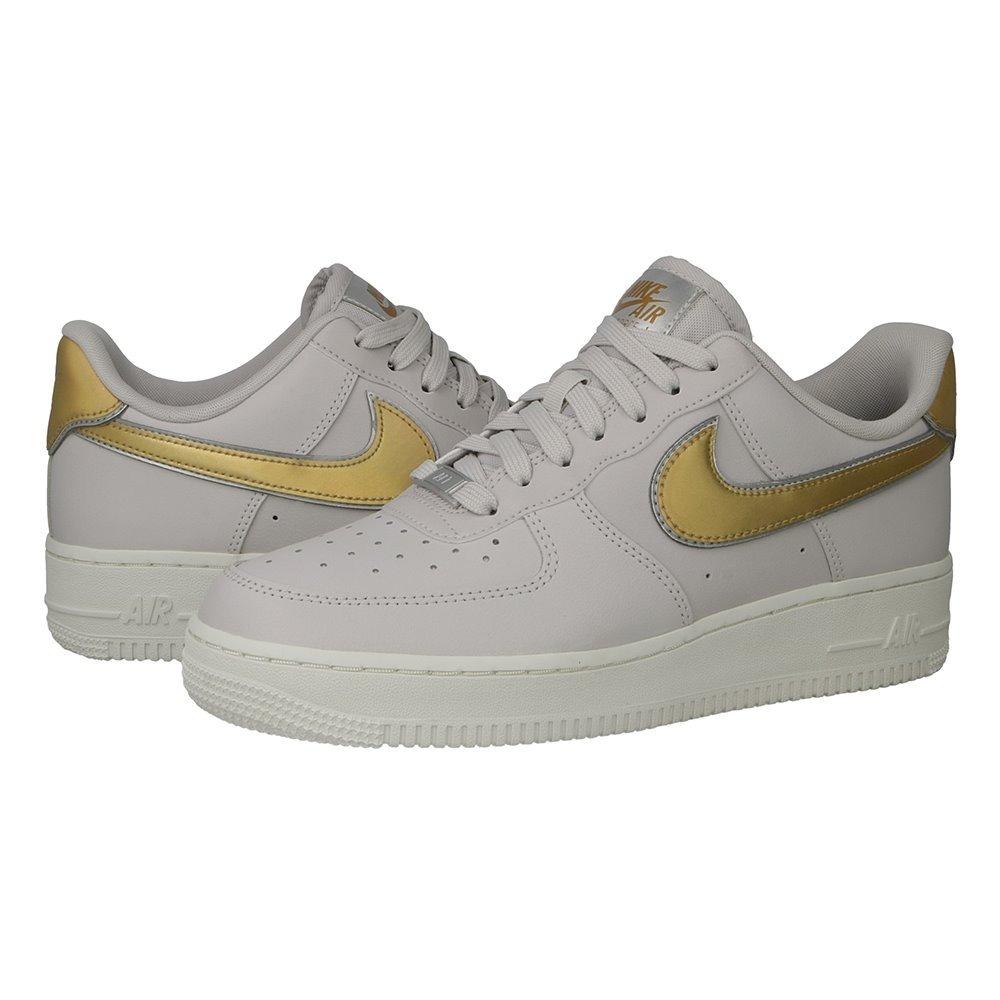 design intemporel 9aea0 52f56 Tenis Nike Air Force 1 ´07 Mtlc Gris-dorado #4 Y 4.5 Mx Orig