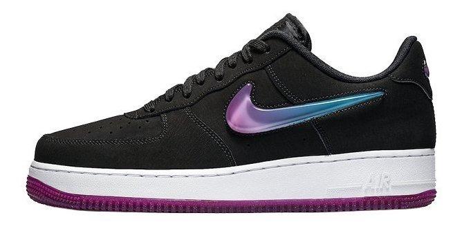 Tenis Nike Air Force 1 ´07 Prm 2 Negro Suela Morada # 25 Cm