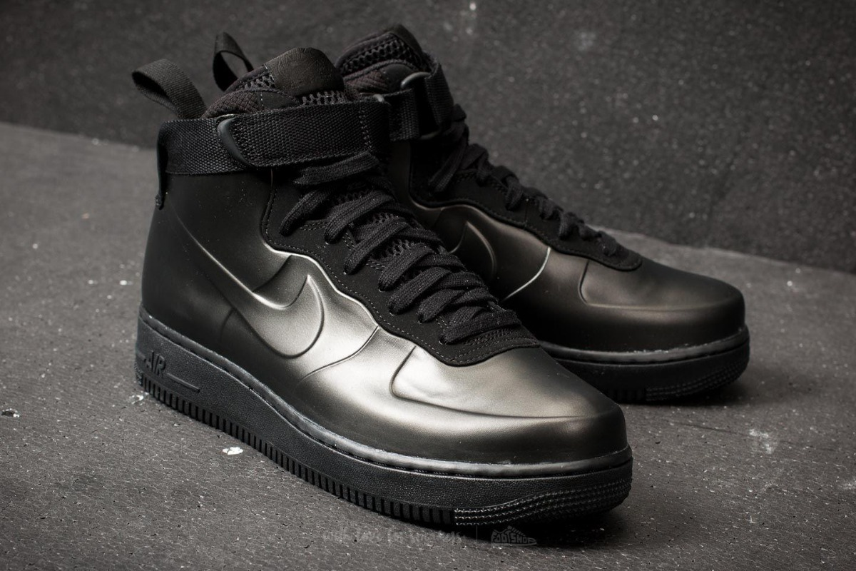 buy popular 4186c 5dfa8 Tenis Nike Air Force 1 Foamposite Cup Triple Black