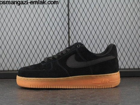Black Air Gratis Suede Force Frete Nike Low Tenis 1 Barato 80Nnmw