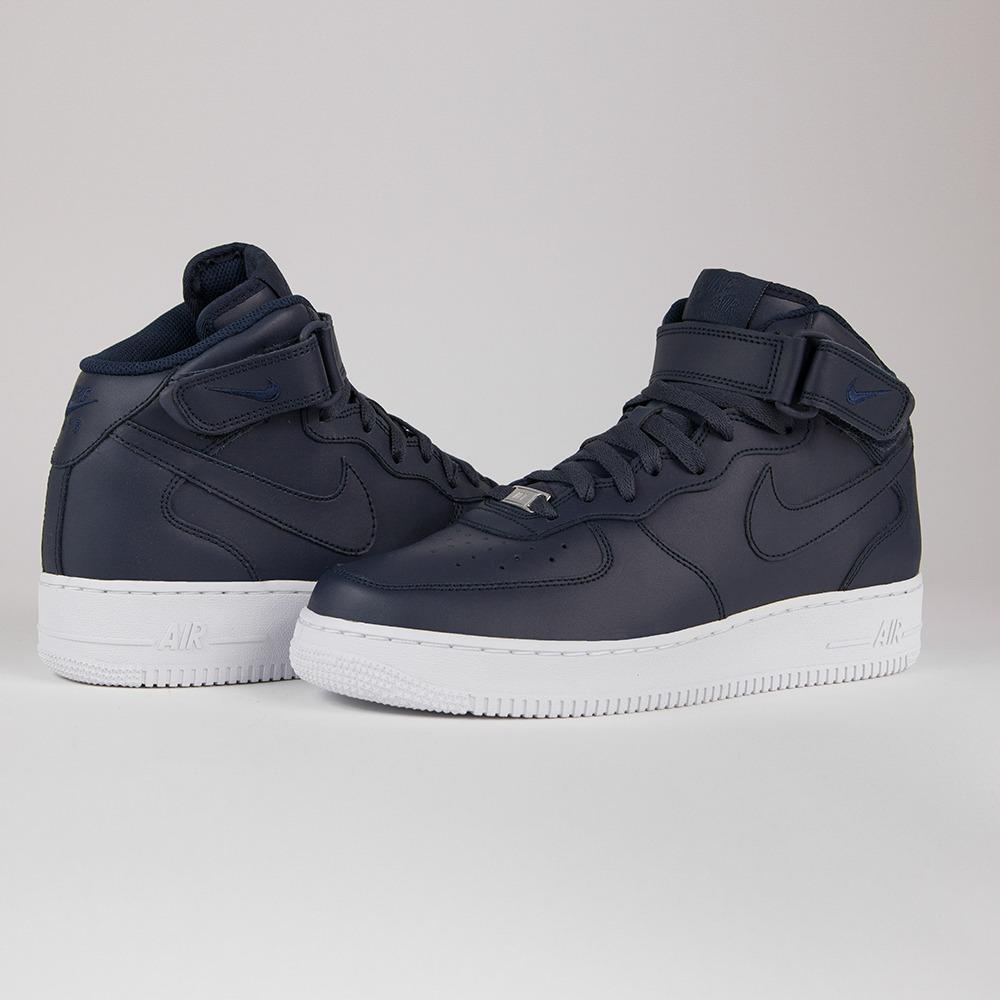zapatillas nike air 1 blanco azul marina