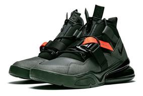 Tenis Nike Air Force 270 Utility Bota Triple Black Max