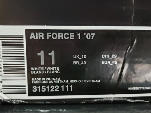 tenis nike air force colab supreme nba peça unica original