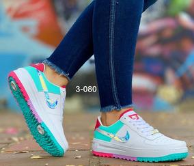 Force Nike Zapatos Air Tenis Calzado Deportivos Mujer 4AjR5Scq3L