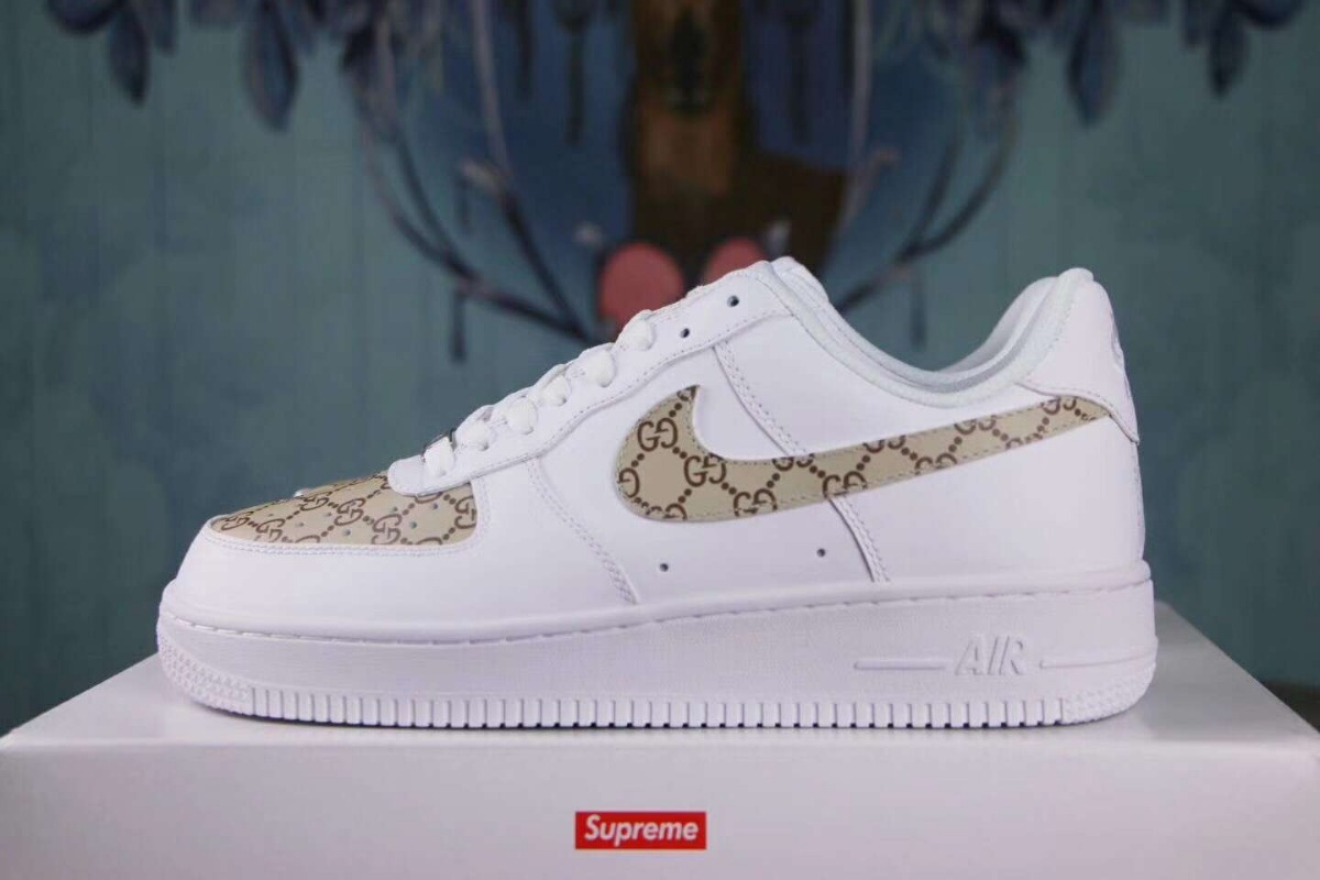 on sale 0764a f7443 tenis nike air force one - edición especial gucci. Cargando zoom.