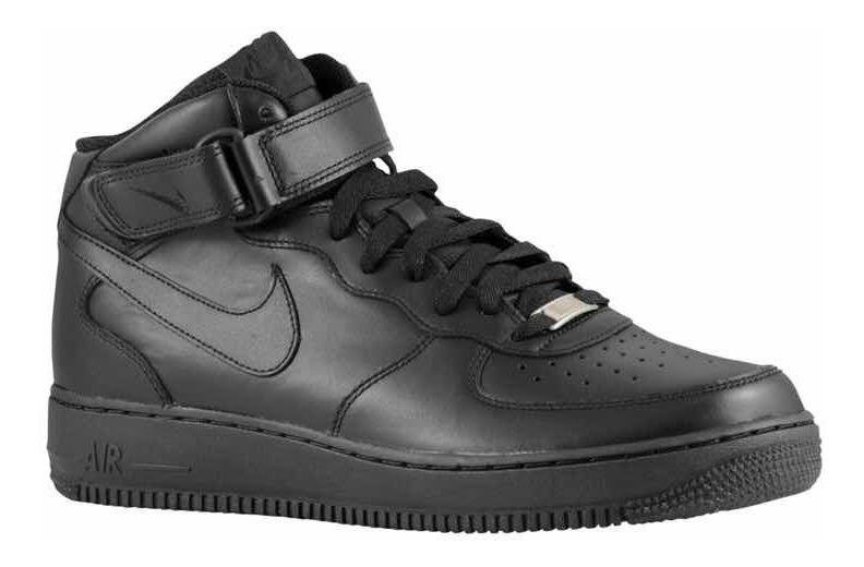 Tenis Nike Air Force One Negro Bota Original Envío Gratis
