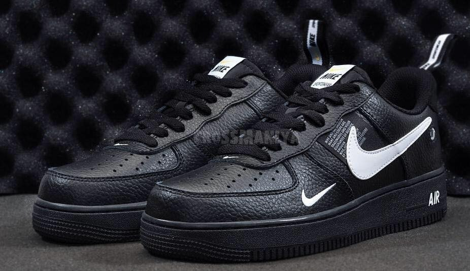 Tenis Nike Air Force One Tm Negra Original Envio Gratis