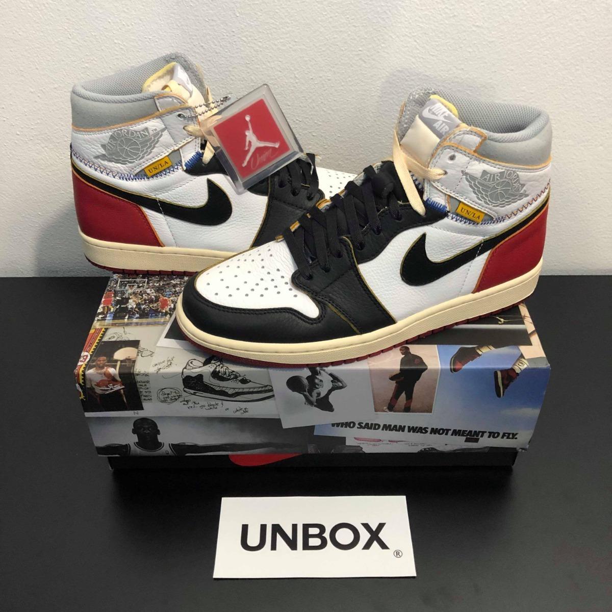 Jordan X 1 Air Angeles Toe Los Nike Black ' Tenis Union 6fyYgb7