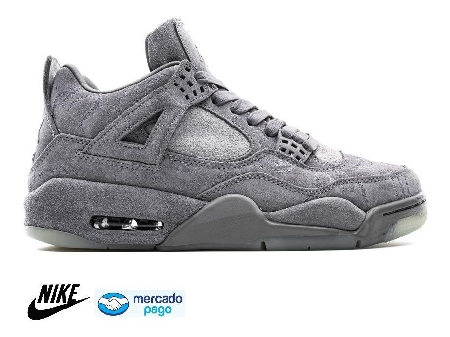 newest 46dd7 dd554 Tenis Nike Air Jordan 4 Retro Kaws Cool Grey