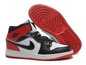 air jordan clasicos rojo negro
