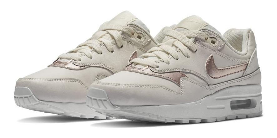 Tenis Nike Air Max 1 Mujer Color Hueso Casual # 25 Cm Único