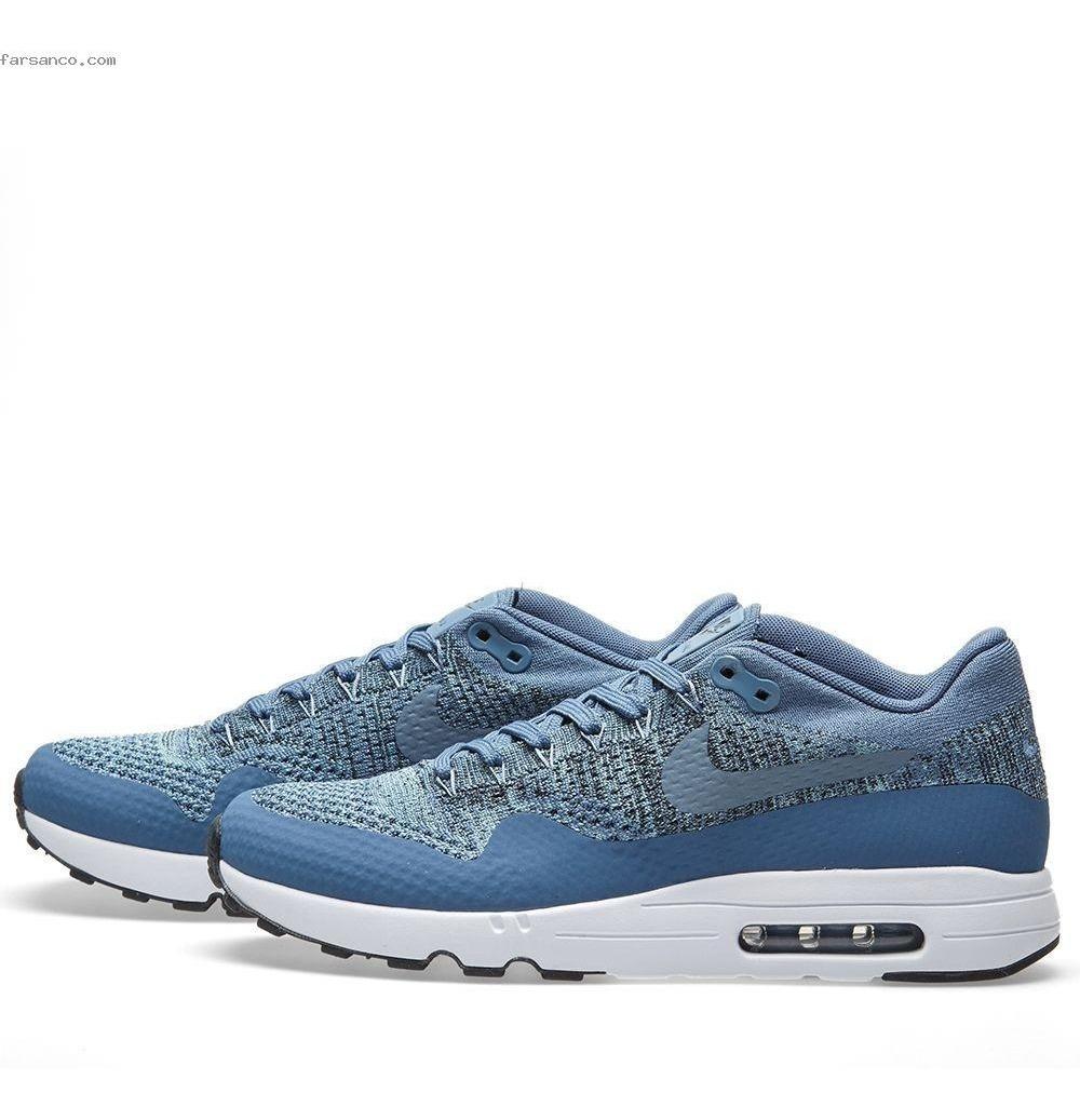 Zapatillas Nike Air Max 1 Ultra 2.0 Flyknit blancas y azules