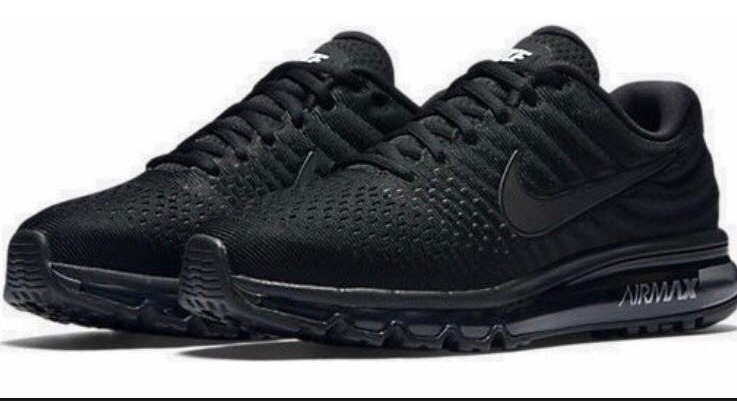 online store 7496d 39f5a Tenis Nike Air Max 2017 Correr Gym Crossfit Triple Black