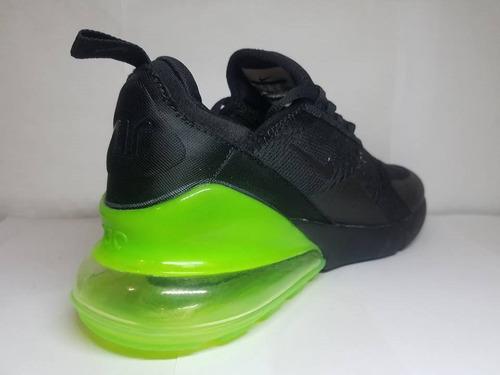 tenis nike air max 270 black green oferta buen fin !!!