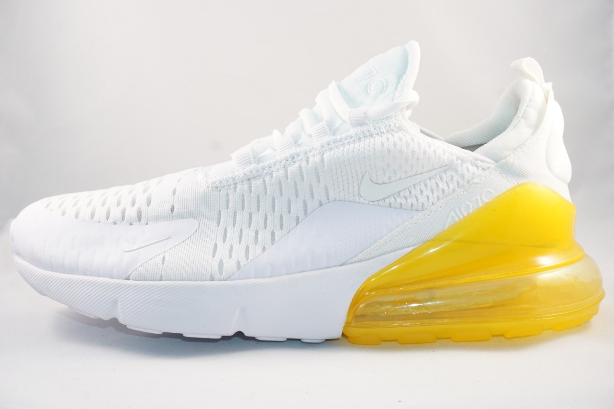 2926bb28618 ... zapatos d591c faf7f; sale tenis nike air max 270 blanco amarillo  running correr hombre. cargando zoom. c6bfa