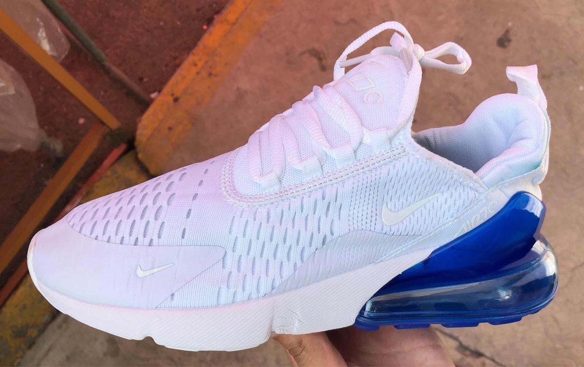 427e0841342fd tenis nike air max 270 blanco azul. Cargando zoom.