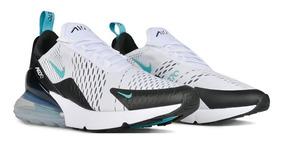 Tenis Nike Air Max 270 Blancos Con Verde Esmeralda Hombre.