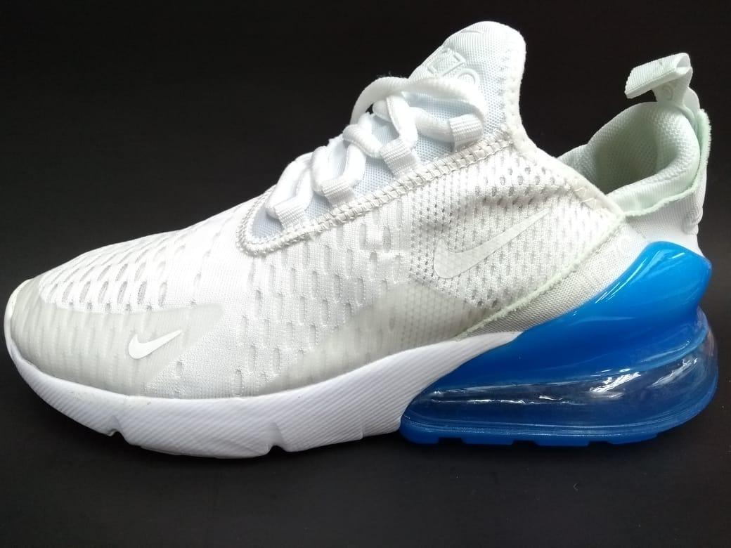 32bf86b6f6a51 ... new style tenis nike air max 270 caballero blanco azul envio gratis. cargando  zoom.